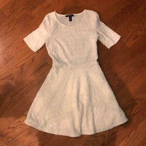 Textured cream dress